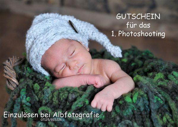 Gutschein Fotoshooting Baby-Portrait